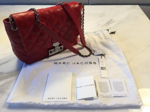 Marc Jacobs Large Single Quilted Crossbody Bag Schultertasche Tasche Leder rot