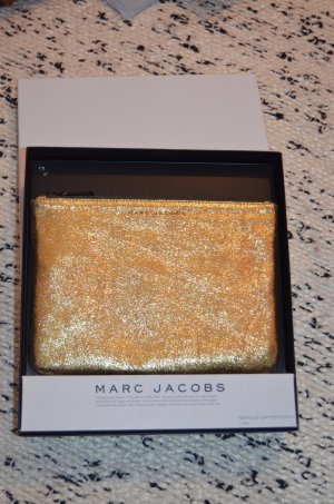 Marc Jacobs Pochette gold-colored-black leather