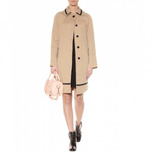 Marc Jacobs Mantel Beige Schwarz Trenchcoat Baumwolle Coat Brown Cotton XS TOP