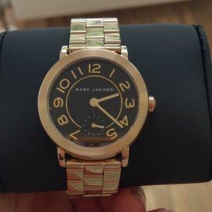 Marc Jacobs Montre avec bracelet métallique noir-doré