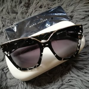 Marc Jacobs Angular Shaped Sunglasses black-gold-colored