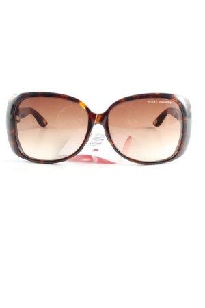 Marc Jacobs ovale Sonnenbrille dunkelbraun-braun Casual-Look
