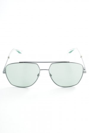 Marc Jacobs Pilot Brille silberfarben-waldgrün Street-Fashion-Look