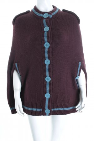 Marc Jacobs Poncho brown violet-azure classic style