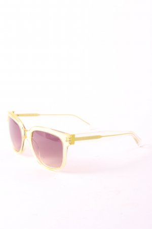 Marc Jacobs runde Sonnenbrille gelb Casual-Look