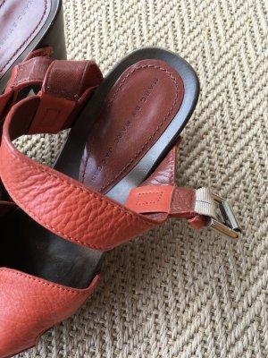 Marc Jacobs Sandalen mit Holzplateau, Clogs, Orange, leicht, Gr. 40