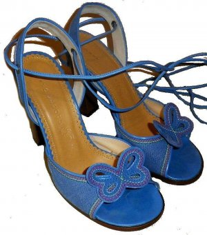 Marc Jacobs Strapped High-Heeled Sandals cornflower blue leather