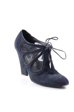 Marc Jacobs Stivaletto stringato blu scuro stile casual