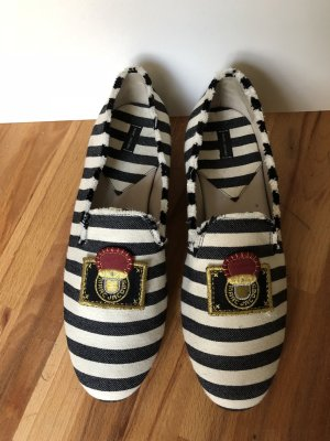 Marc Jacobs Slipper, Gr.40 (39), dunkelblau/creme gestreift