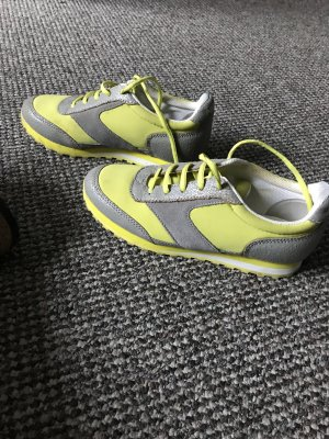 Marc Jacobs Lace-Up Sneaker neon green-silver-colored mixture fibre