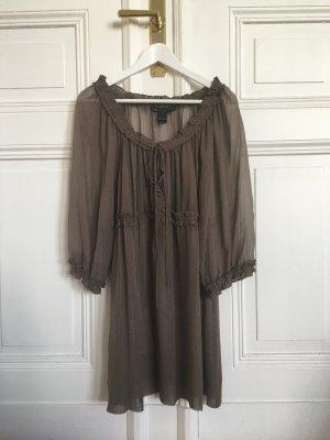 Marc Jacobs Abito a tunica marrone-grigio Seta