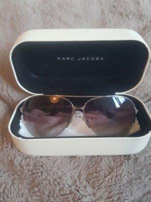 Marc Jacobs Ovale zonnebril zwart-zilver