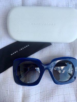 Marc Jacobs Hoekige zonnebril donkerblauw-blauw