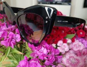 Marc Jacobs Hoekige zonnebril zwart-donkergrijs