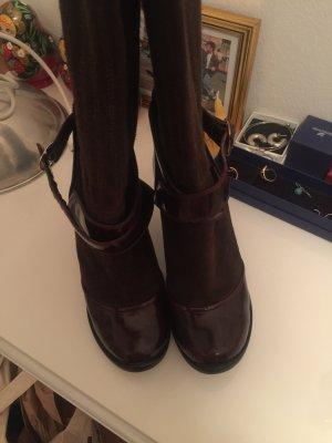 Marc Jacobs Heel Boots brown-bordeaux leather