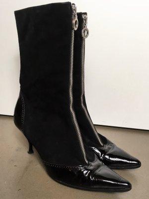 Marc Jacobs Zipper Booties black suede