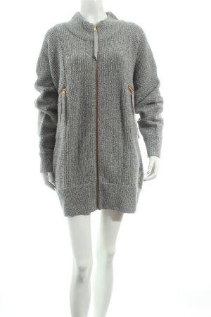 Marc Jacobs Strickjacke grau-wollweiß meliert Casual-Look