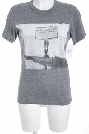Marc Jacobs T-Shirt grau-weiß Motivdruck Casual-Look