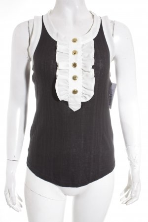 Marc Jacobs Tanktop schwarz-weiß Casual-Look