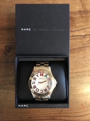 Marc by Marc Jacobs Watch With Metal Strap gold-colored-white stainless steel