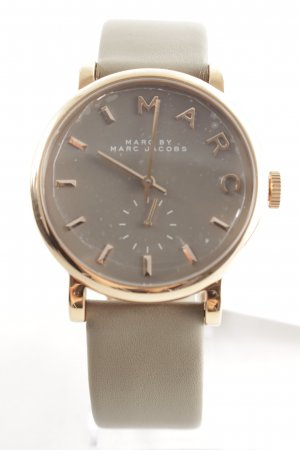 """Marc Jacobs Watch With Leather Strap """"Baker Strap Watch Grey"""""""