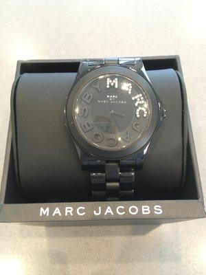 Marc Jacobs Uhr neu schwarz Blogger Fashion Designer Silber Accessoires Armband