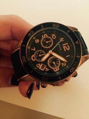 Marc Jacobs Uhr Roségold Schwarz chronographen Stil