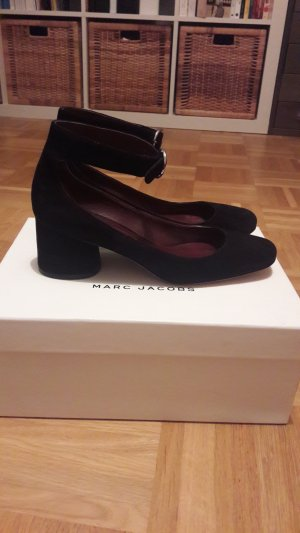 Marc Jacobs Tacones Mary Jane negro-burdeos Gamuza