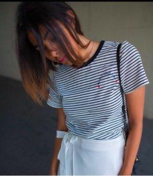 Marc Jacovs skinny stripe T-shirt Streifen gestreift schwarz weiß