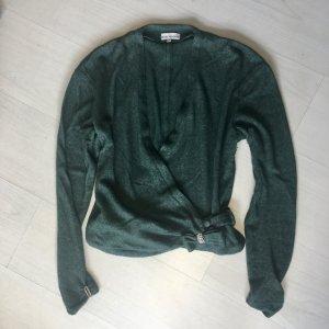 Marc Kehnen Cache-cœur en tricot vert forêt