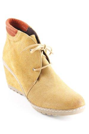 MARC Keil-Stiefeletten sandbraun-dunkelorange Casual-Look