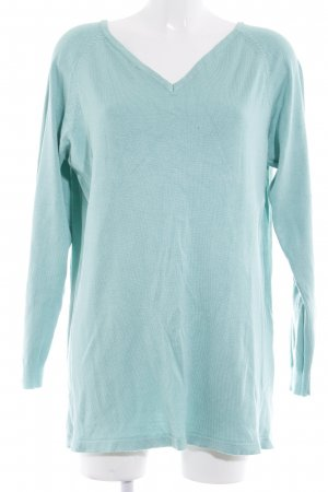 Marc Lauge Knitted Sweater turquoise casual look