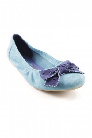 MARC Mary Jane Ballerinas steel blue-cornflower blue classic style