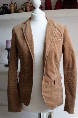 Marc O´Polo 36 S Blazer Jacke hell braun Garment dyed Baumwolle Business Büro