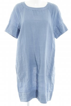 Marc O'Polo A-Linien Kleid kornblumenblau Webmuster Casual-Look
