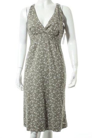 Marc O'Polo A-Linien Kleid weiß-khaki abstraktes Muster Beach-Look