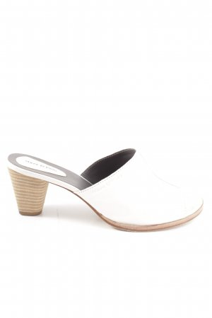 Marc O'Polo Heel Pantolettes white-brown casual look