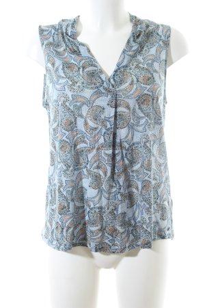 Marc O'Polo ärmellose Bluse abstraktes Muster Casual-Look