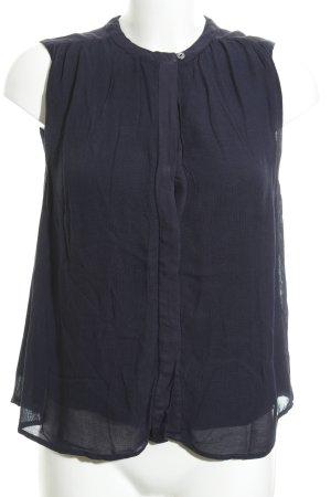Marc O'Polo Mouwloze blouse blauw zakelijke stijl
