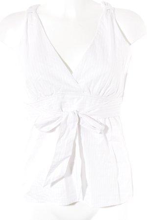 Marc O'Polo ärmellose Bluse weiß-hellrosa Streifenmuster klassischer Stil
