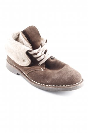 Marc O'Polo Ankle Boots dunkelbraun-hellbeige Vintage-Look