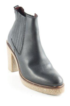 Marc O'Polo Ankle Boots schwarz-hellbraun schlichter Stil