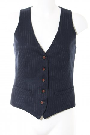 Marc O'Polo Waistcoat blue-light grey striped pattern business style
