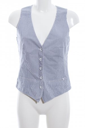 Marc O'Polo Waistcoat white-blue striped pattern business style