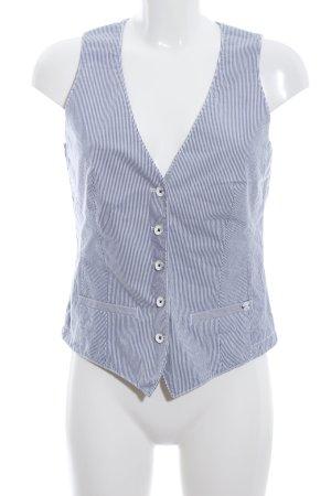 Marc O'Polo Gilet de costume blanc-bleu motif rayé style d'affaires