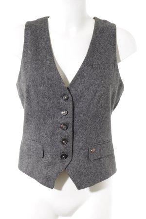 Marc O'Polo Waistcoat dark grey-white flecked classic style