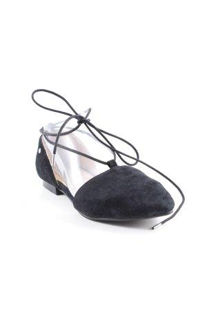 Marc O'Polo Ballerinas mit Spitze schwarz Street-Fashion-Look