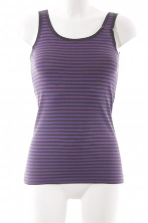 Marc O'Polo Basic Top anthracite-lilac striped pattern simple style