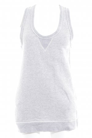 Marc O'Polo Basic Top light grey flecked athletic style
