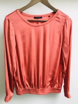 Marc O'Polo Blouse brillante saumon viscose